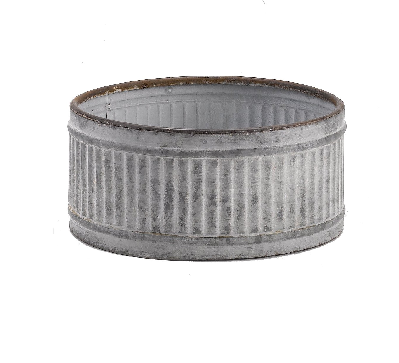 5.75 x 12.25 Round Metal Planter