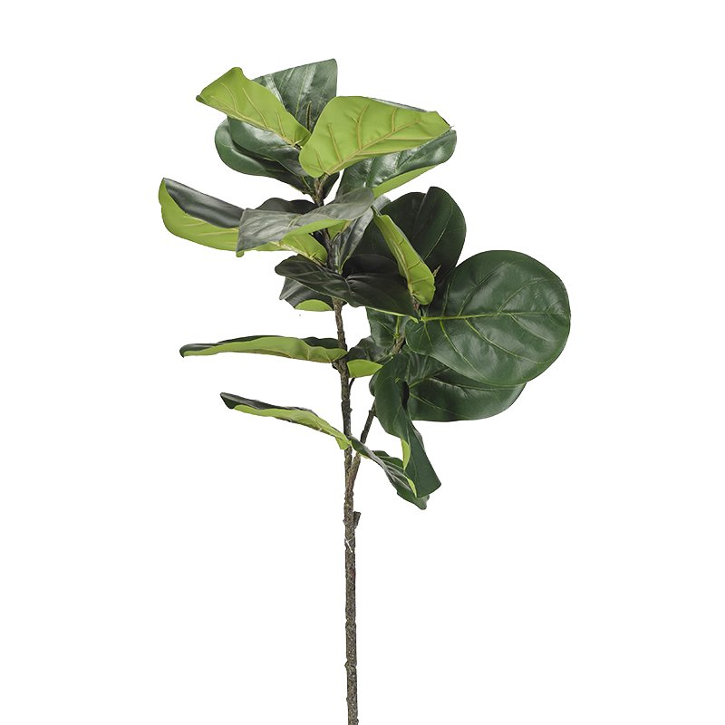 Natural touch fiddle leaf fig branch